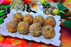 Aşçı Mutfakta Mısırlı Peynir Topları