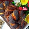 Aşçı Mutfakta 4 Adet Haşhaşlı Keten Tohumlu Simit