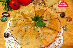 Aşçı Mutfakta Mayalı Krep ( Salamlı )