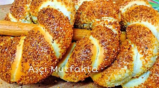 Aşçı Mutfakta Beş adet Sütlü Simit Tarifi