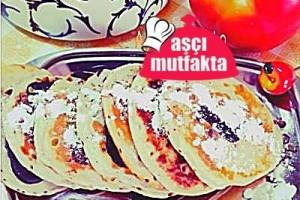 Yumurtasız İki renkli Pankek
