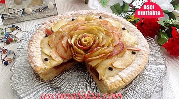 Aşçı Mutfakta Elma Güllü Turta Tarifi