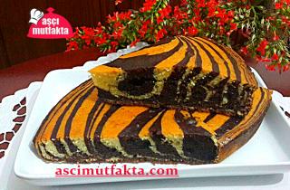 Aşçı Mutfakta Zebra Kek Tarifi