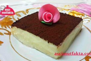 Aşçı Mutfakta Labneli Nefis Muhallebi Tarifi
