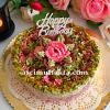 Vişneli Çilekli Doğum günü Pastası ( 12 Kişilik )